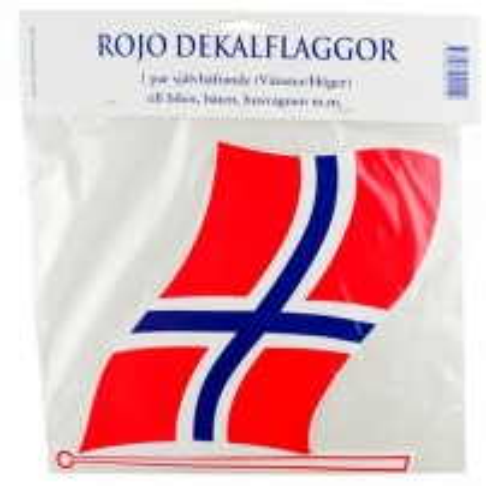 "Flag ""NO"", sæt a´ 2 stk, small."