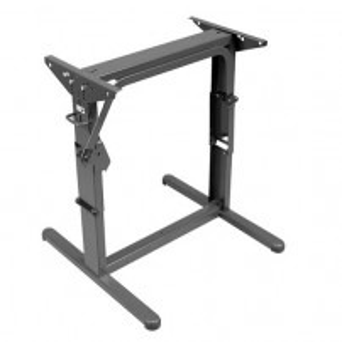 Hæve/sænke-bordstel, brunt, L 600 x H 340/700 mm