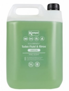 Kampa Toilet Fluid And Rinse - Green 5L