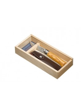 Opinel N°8 SS 8,5 cm. oliven,Gift box